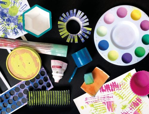 Mark Making – Drucken und Malen mit Alltagsgegenständen